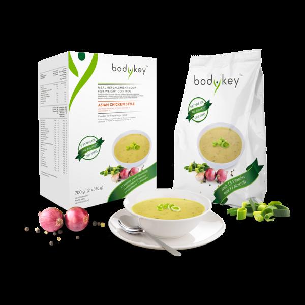 Mahlzeitersatz-Suppe Asiatisches Hühnchen bodykey by NUTRILITE™