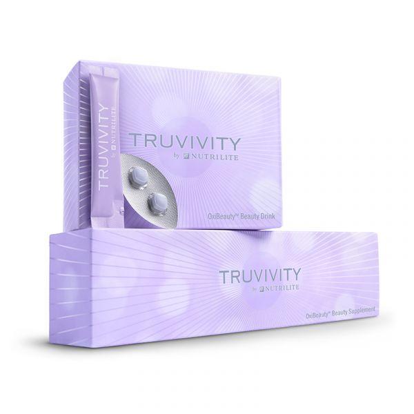 Set (Beauty-Getränkepulver und Nahrungsergänzungsmittel) TRUVIVITY BY NUTRILITE™ OxiBeauty™